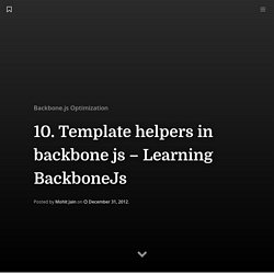 10. Template helpers in backbone js – Learning BackboneJs