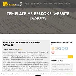 Template vs Bespoke Website Designs