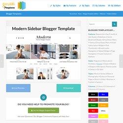 Modern Sidebar Blogger Template