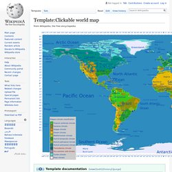 Template:Clickable world map - Wikipedia