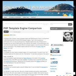 PHP Template Engine Comparison « Gonzalo Ayuso | Web Architect