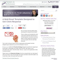 A Bold Email Template Designed to Get Client Response