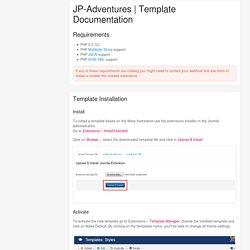 Template Documentation