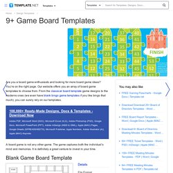 Game Board Template - 9+ Free Word, PDF Documents Downlaod