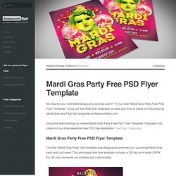 Mardi Gras Party Free PSD Flyer Template - Download Freebie Flyer