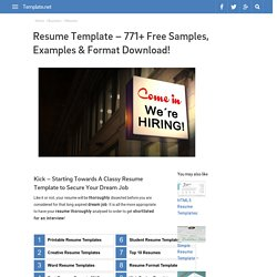 Resume Template - 771+ Free Samples, Examples & Format Download!