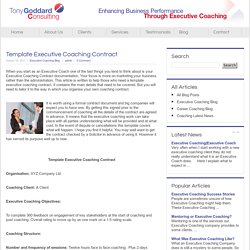 Template Executive Coaching Contract