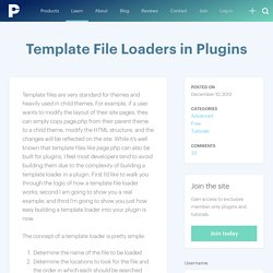 Template File Loaders in Plugins