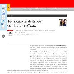 Template gratuiti per curriculum efficaci