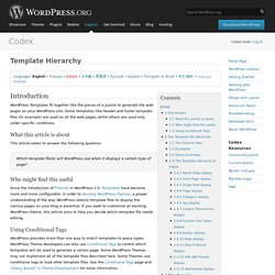 Template Hierarchy « WordPress Codex