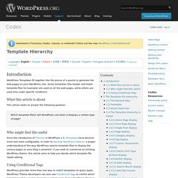 template hierarchy in wordpress - learning wordpress pearltrees