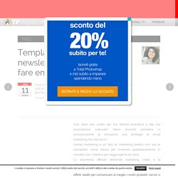 Template gratis per newsletter: 3 set in PSD per fare email marketing