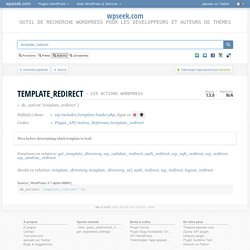 template_redirect (WordPress Action Hook)