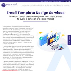Email Template Design Services from Creativity Experts