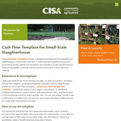 Cash Flow Template for Small-Scale Slaughterhouse