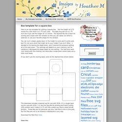 Box template for a square box