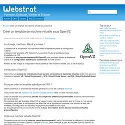 Créer un template de machine virtuelle sous OpenVZ