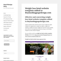 Weight loss html template to create your weight loss website