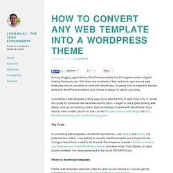 How to convert any web template into a WordPress theme