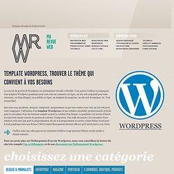 Template Wordpress et Thèmes inspirants