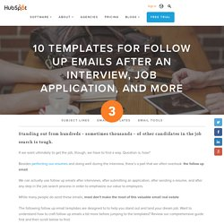 10 Templates for Follow Up Emails After An Interview, Job Application, and More
