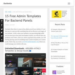 12 Free Admin Templates 2013 For Backend Panels