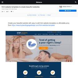 html website templates to create beautiful websites on Behance