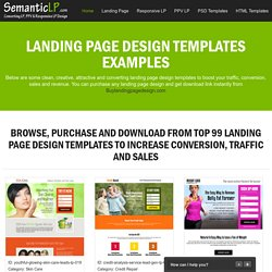 landing page design templates for your business conversion