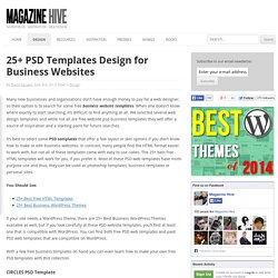 25+ PSD Templates Design for Business Websites
