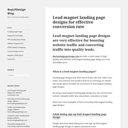 Lead magnet landing page design templates for your marketing