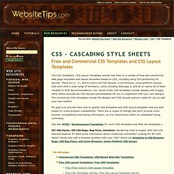 CSS Templates - Free CSS Templates, Commercial CSS Templates, Web Page Layouts - CSS, Cascading Style Sheets Tutorials, Articles, Tips - Web Resources, Website Tips WebsiteTips.com