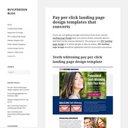 Pay per click landing page design templates 2015 that converts