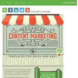Templates for Quick and Easy Content Creation - The Advanced Guide to Content Marketing
