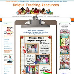 25+ Book Report Templates: Extra large, fun, and creative book report projects and ideas.