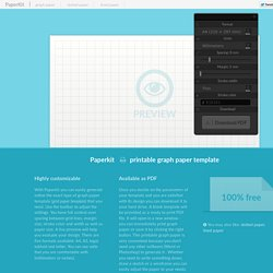 Blank graph paper templates that you can customizes - Paperkit