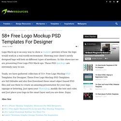 58+ Free Logo Mockup PSD Templates For Designer - Web Resources Free