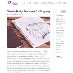 Website Design Templates For Designing