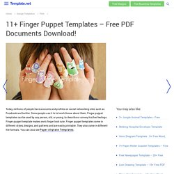 11+ Finger Puppet Templates – Free PDF Documents Download!