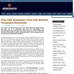 Free CSS Templates: Free CSS Website Templates Download