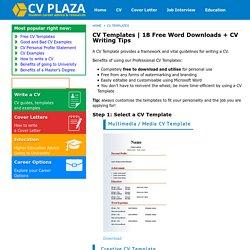 18 Free Word Downloads + CV Writing Tips - CV Plaza