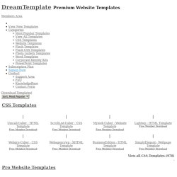 Website Templates, Web Templates, Flash, Word Templates