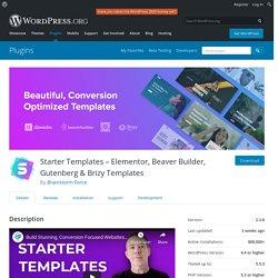 Starter Templates – Elementor, Beaver Builder, Gutenberg & Brizy Templates – WordPress plugin