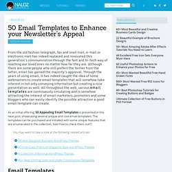 50 Email Templates to Enhance your Newsletter's Appeal