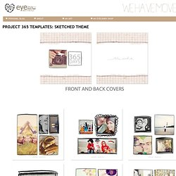 PROJECT 365 TEMPLATES: SKETCHED THEME - eyecandyoverlays