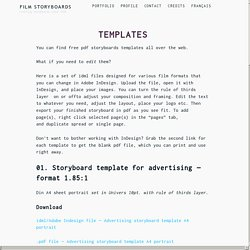 Film Storyboards – Templates