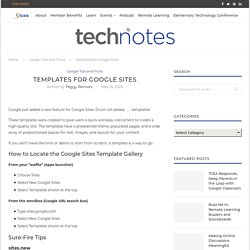 Templates for Google Sites
