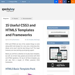 15 Useful CSS3 and HTML5 Templates and Frameworks - Speckyboy De