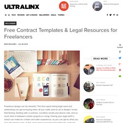 Free Contract Templates & Legal Resources for Freelancers - UltraLinx