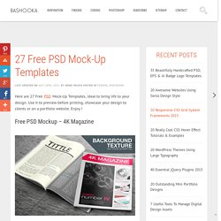 27 Free PSD Mock-Up Templates
