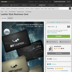 Leather Style Business Card - Design Templates - GraphicRiver